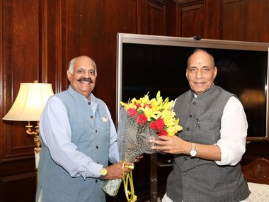 VP Singh Badnore (L) is the Governor designate for Punjab. Twitter /@HMOIndia