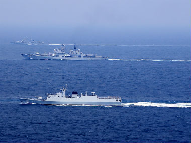 Representational image of Chinese ships in East China sea. Reuters
