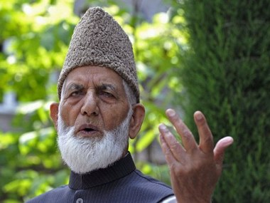 A file photo of Geelani. AFP