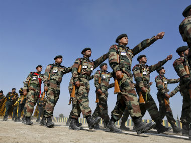 Soldiers of the Indian Army. Reuters