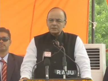 Finance Minister Arun Jaitley in Jammu and Kashmir on Monday. Youtube
