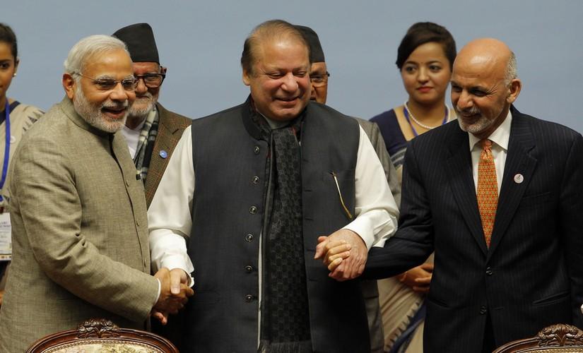 A file photo of Narendra Modi (L), nawaz Sharif (C), Ashraf Ghani (R). AFP