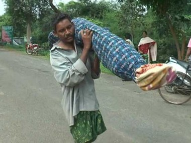 Dana Majhi had to carry his wife's dead body as he could not afford a vehicle to transport it home