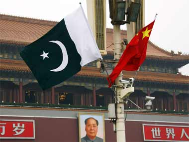 Representational image of Pakistan and Chinese flags. Reuters