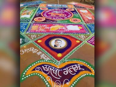 Alvida na kahna: RBI staff's emotional adieu to Raghuram Rajan in a rangoli