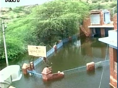 Water logging was reported in various areas of Jodhpur. Image courtesy: ANI/Twitter