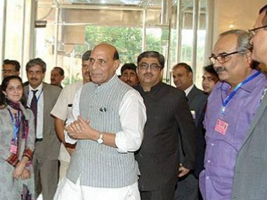 Union Home Minister Rajnath Singh in Islamabad for Saarc meet. PTI