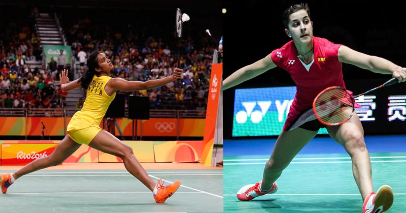 PV Sindhu has her work cut out against Caroline Marin. AP