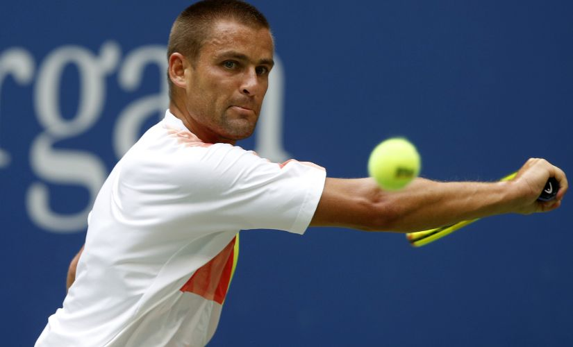 Mikhail Youzhny, of Russia, had to retire in his 3rd round US Open 2016 match against Novak Djokovic. AP