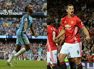 Jose Mourinho's battle with Pep Guardiola in the first Manchester derby of the season will be be the seeting for more epic clashes to come. AFP