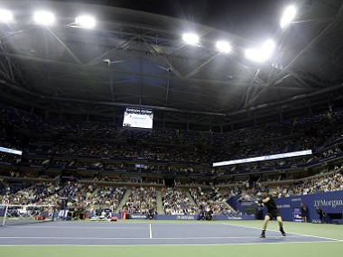 Andy Murray of Britain in action during the US Open 2016. AP