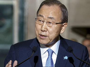 File image of UN chief Ban Ki-moon. AP