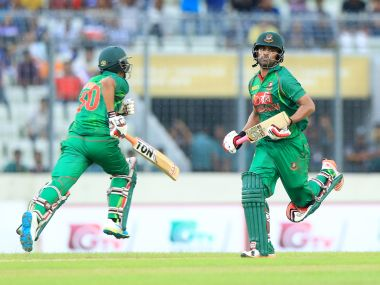 Bangladesh's Tamim Iqbal and Mahmudullah. AFP