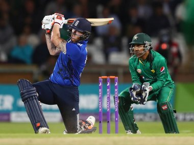 Ben Stokes in action against Pakistan in the fourth ODI. Getty