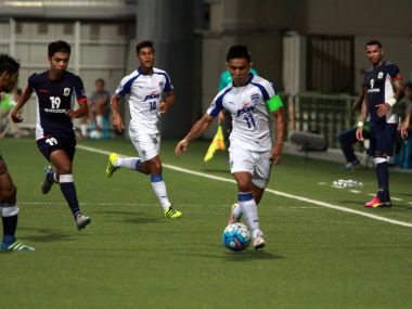 Bengaluru FC produced a gritty performance to advance to the semi-finals of AFC Cup. Image Courtesy: Facebook@Bengaluru FC