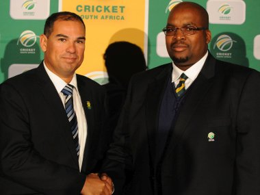 File photo of CSA President Chris Nenzani with Russell Domingo. Getty