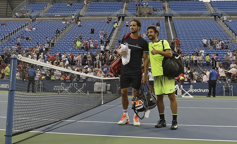 Feliciano Lopez and Marc Lopez. AP