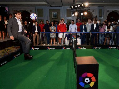 Fernando Morientes during a press conference to announce La Liga's official presence in India. PTI