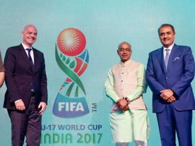 Logo for 2017 U-17 Fifa World Cup was unveiled in Goa. Twitter@IndianFootball
