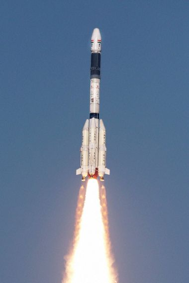 Isro's GSLV-F05 carrying INSAT-3DR takes off from Satish Dhawan Space Centre in Sriharikota on Thursday. PTI