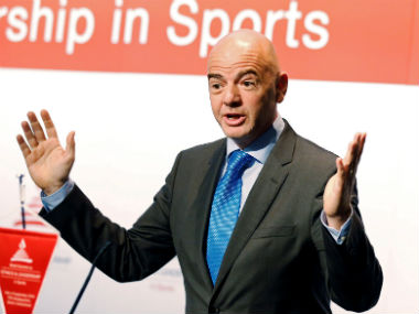 Fifa President Gianni Infantino. Reuters