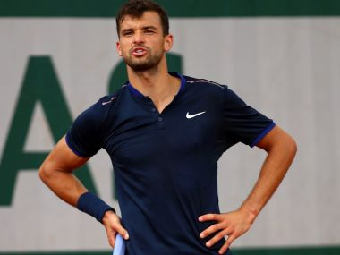 File photo of Grigor Dimitrov. AP