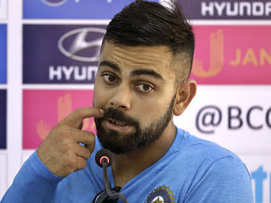 India's captain Virat Kohli during a press conference ahead of the first cricket test against New Zealand. AP