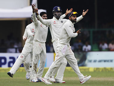 This was the closest India came to take a wicket in the second session. AP