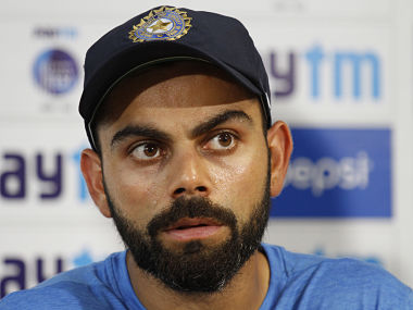 Indian cricket captain Virat Kohli attends a press conference ahead of their second Test match against New Zealand. AP