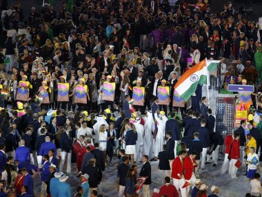 File photo of the Indian contingent at the Rio 2016 opening ceremony. Reuters