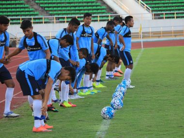 Indian football team practicing ahead of clash against Puerto Rico. AIFF Twitter