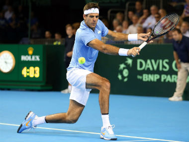 Juan Martin del Potro is confident he'll be fit for the Davis Cup final in November. AP