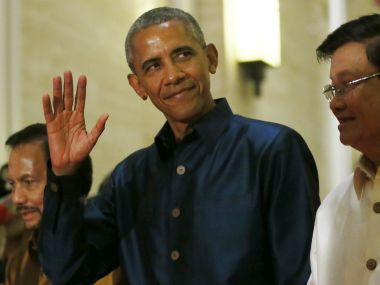 US President Barack Obama at the gala dinner of ASEAN leaders and its Dialogue Partners. AP
