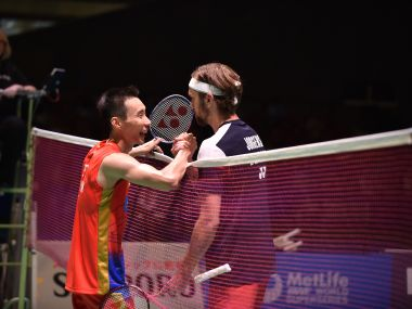Malayasia's Lee Chong Wei after winning the Japan Super Series. AFP