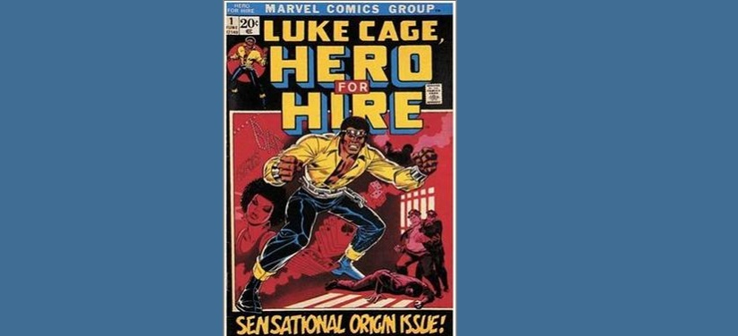 Luke Cage in the first versions of the comic book. Image courtesy: Wikimedia Commons