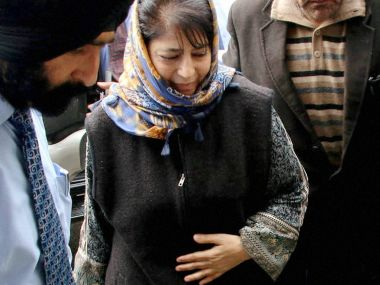 A file photo of Mehbooba Mufti. PTI