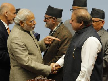 Prime Minister Narendra Modi with his Pakistani counterpart Nawaz Sharif. Representational image. AFP