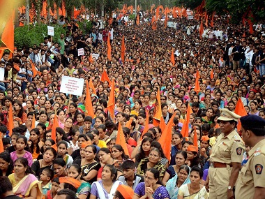 A file image of a Maratha rally. PTI