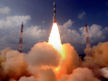 A file image of the launch of the Mars Orbiter. PTI