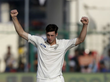Mitchell Santner took five wickets and recorded scores of 32 and 71 in the 1st Test against India at Kanpur. AP