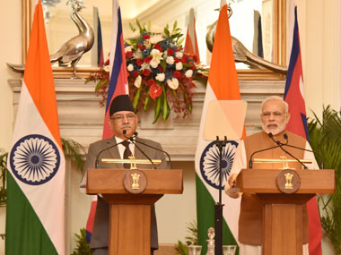 Prime Minister Narendra Modi delivering his statement to media, in the joint media briefing with the Prime Minister of Nepal, Pushpa Kamal Dahal, at Hyderabad House, in New Delhi on 16 September, 2016. Image courtesy PIB