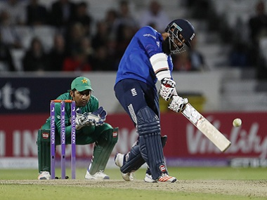 England's Moeen Ali in actiona aginst Pakistan in the fourth ODI. Reuters