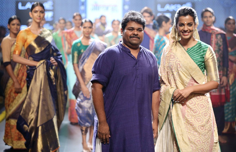 Bollywood stars and cricketers get the plum endorsement deals that in other places may go to a supermodel. Designers also tend to rope in celebrity showstoppers for the ramp. Seen here is Mugdha Godse with Gaurang Shah.