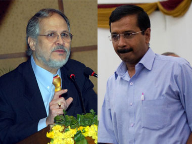 File image of Lt Governor Najeeb Jung and Delhi CM Arvind Kejriwal