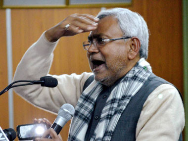 File photo of Nitish Kumar. PTI