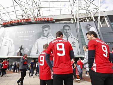 General view outside the Old Trafford stadium. Reuters