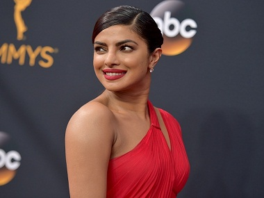 Priyanka Chopra at the 68th Primetime Emmy Awards. AP