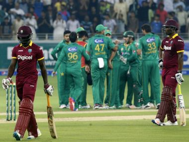 Imad Wasim took five wickets to lead Pakistan's rout of West Indies. AFP
