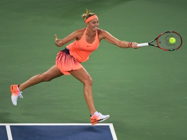 Petra Kvitova during her third round match against Angelique Kerber. AFP
