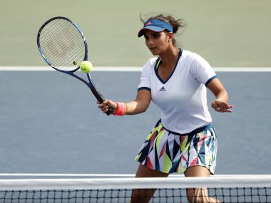 File photo of Sania Mirza in action. AP